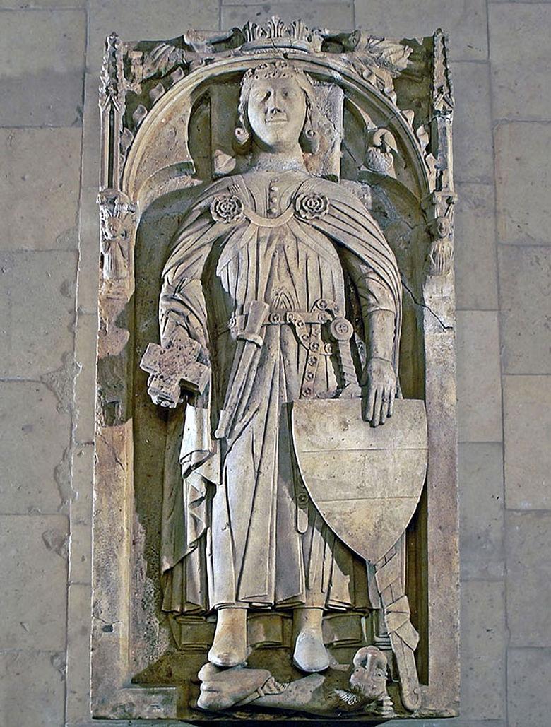 Originalgrabplatte aus dem 13. Jahrhundert