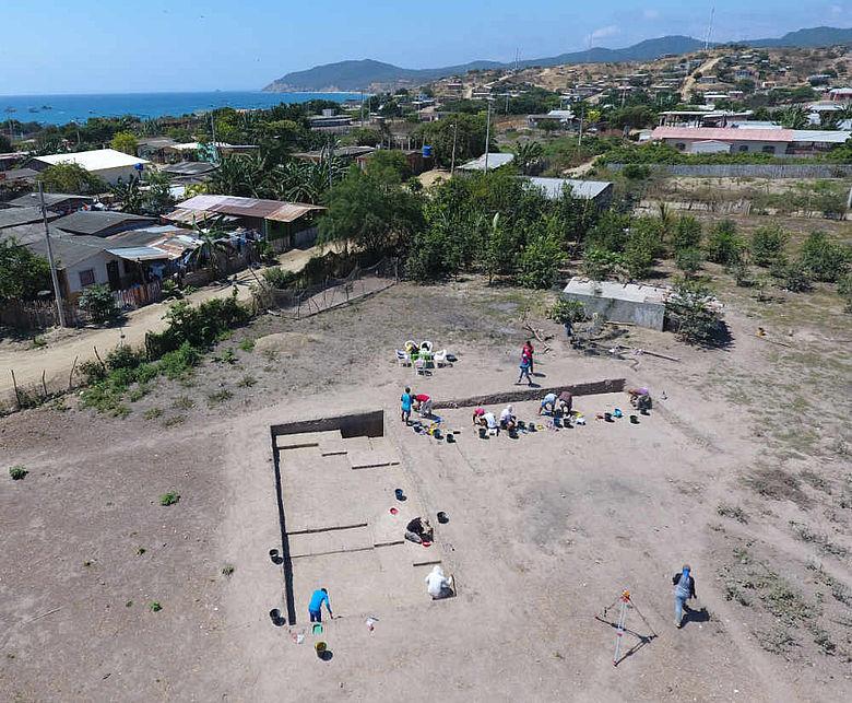 Ausgrabung am Fundort Ma-Lan
