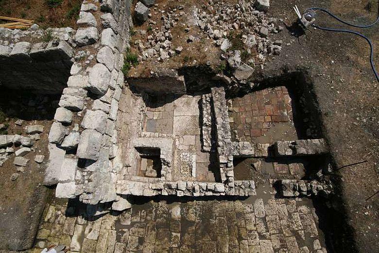 Luftaufnahme der Grabungsstelle in Limyra (© ÖAI 2012, P. Brandstätter)