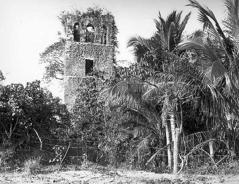 Kathedrale von Panama la vieja um 1910. (Foto: Patronato Panamá viejo)