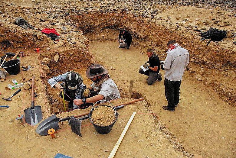 Ausgrabung in Saudi-Arabien