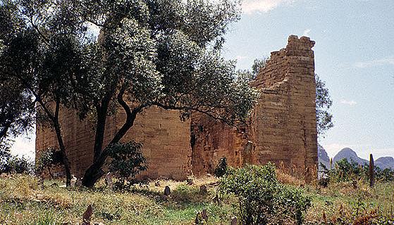 Der Tempel von Yeha in Tigray, Äthiopien. Foto: Driss (CC-BY-SA)