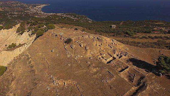 Aigeira, Luftbild der Akropolis