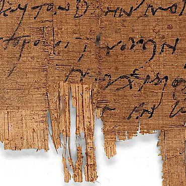 Die letzte Zeile des Papyrus P.Bas. 2.43