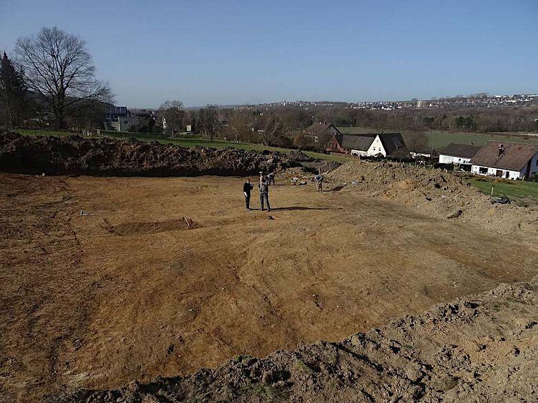 Insgesamt sind 3000 Quadratmeter Fläche untersucht worden, auf denen die Reste eines eisenzeitlichen Gehöfts zu Tage kamen Ruhrtal