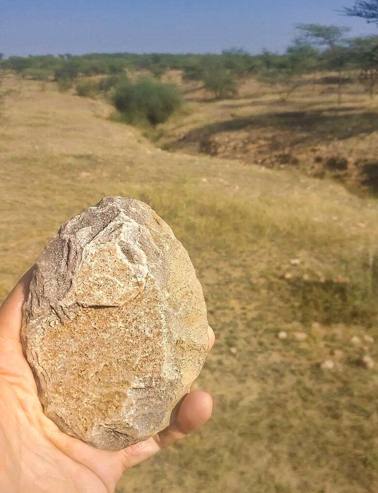 Acheuléen Handbeil Thar-Wüste, Indien