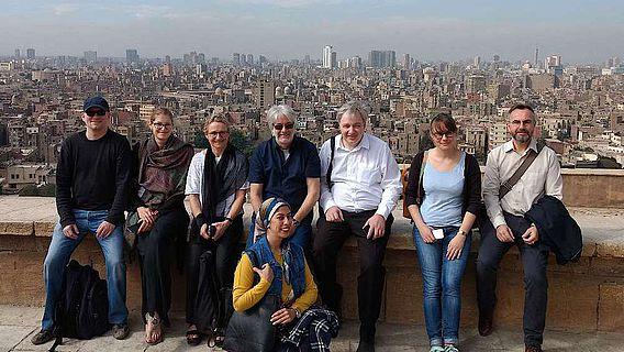 Das Lehrenden-Team der JMU-Winter-School auf der Zitadelle in Kairo