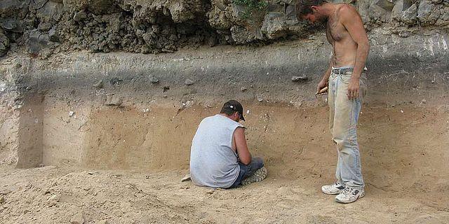 Schichtenfolge des Fundplatzes Nor Geghi 1