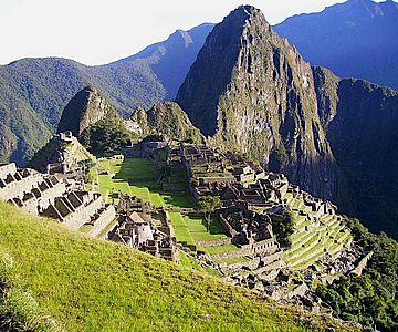 Archäologische Überreste der Inkastadt Machu Picchu