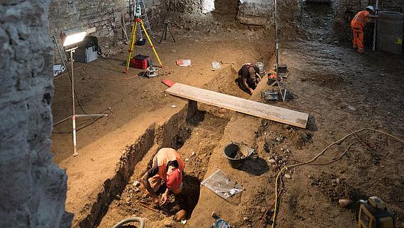 Ausgrabung in der Kaserne
