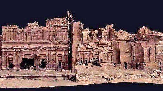 Ergebnis eines 3D-Laserscans in Petra