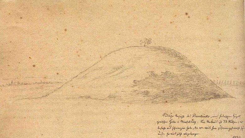 Zeichnung Bornhöck 1843