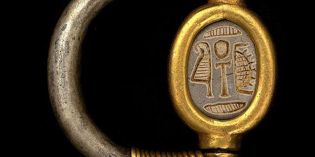Gold-Silber-Siegelring aus der 18. Dynastie