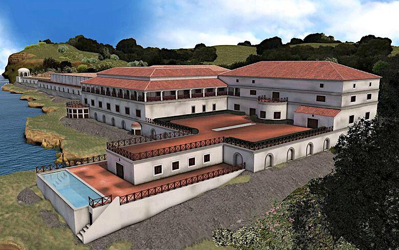 So könnte die Villa dei Papiri vor ihrer Zerstörung ausgesehen haben