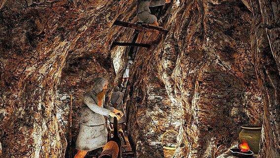3D-Rekonstruktion des untertägigen Bergbaubetriebes
