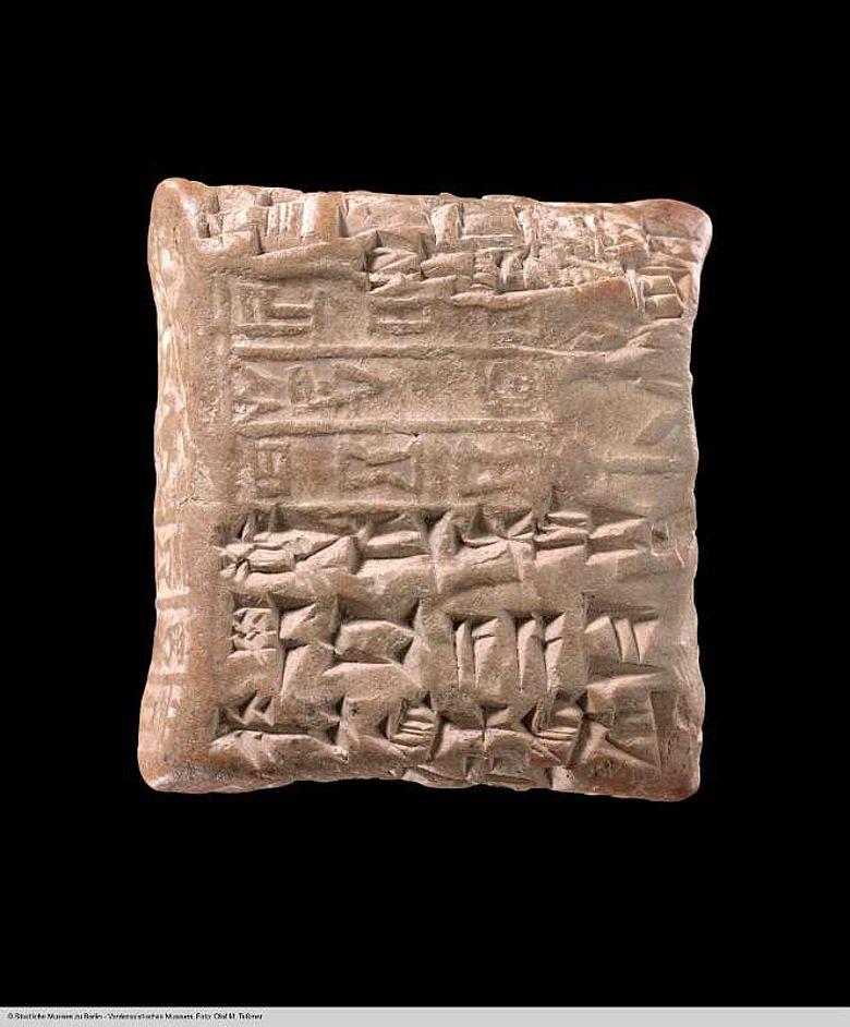 Sumerische Verwaltungsurkunde aus dem Südirak, um 2000 v. Chr.