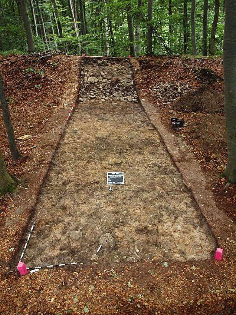 Grabungsschnitt 1 auf dem Mittelberg