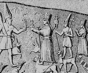 Yazilikaya-Relief (Ausschnitt)