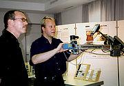 Vorführung des Laserpantographen