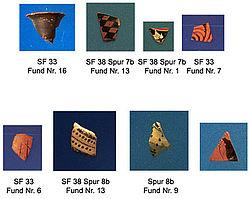 Schwarzfigurige und rotfigurige Keramik 2002. (Foto: Bochumer Gela-Survey)