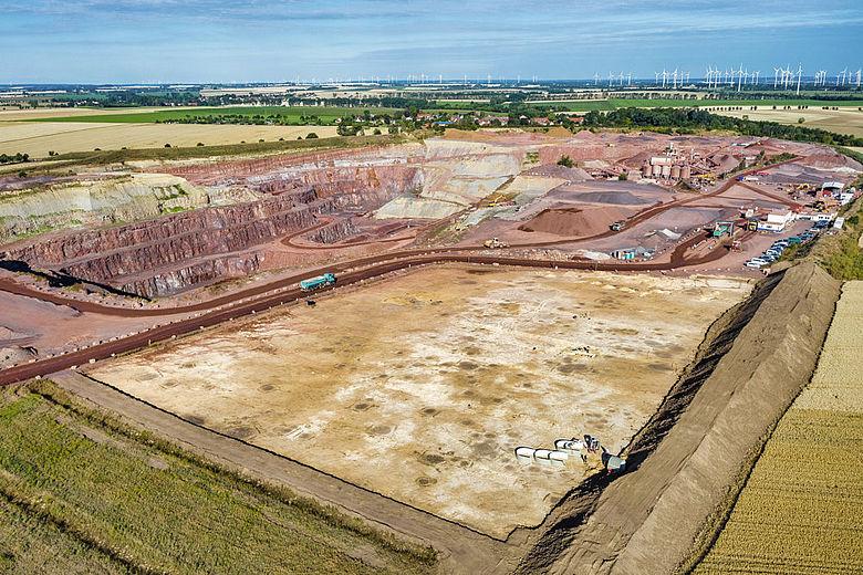Ausgrabung Mammendorf im Luftbild