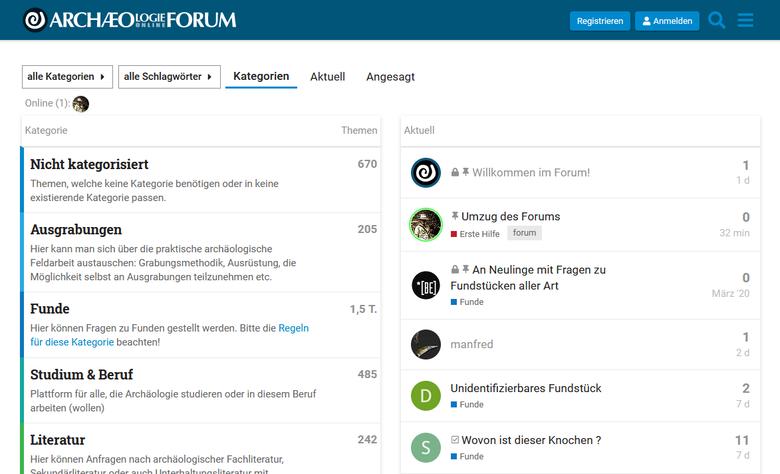 Neues Archäologie Online Forum