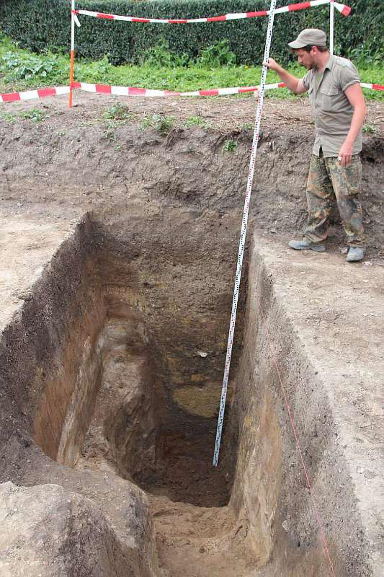 Schacht eines Brunnens