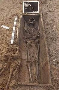 Abb. 8 Bestattung mit Sarg. © Landesamt für Archäologie Sachsen