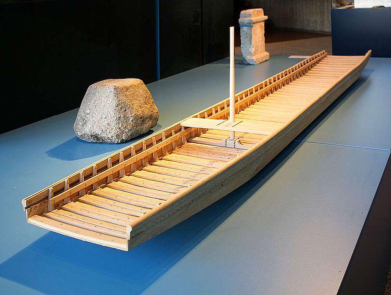 Modell eines römischen Transportschiffes
