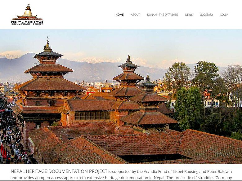 Website des Nepal Heritage Documentation Project