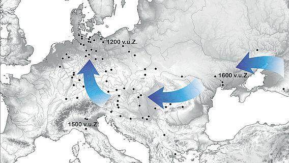 Ausbreitung von Rispenhirse in Europa