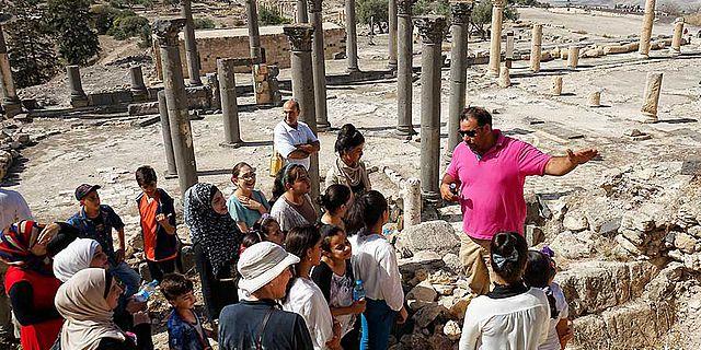 Kindertag auf der Grabung Umm Qays