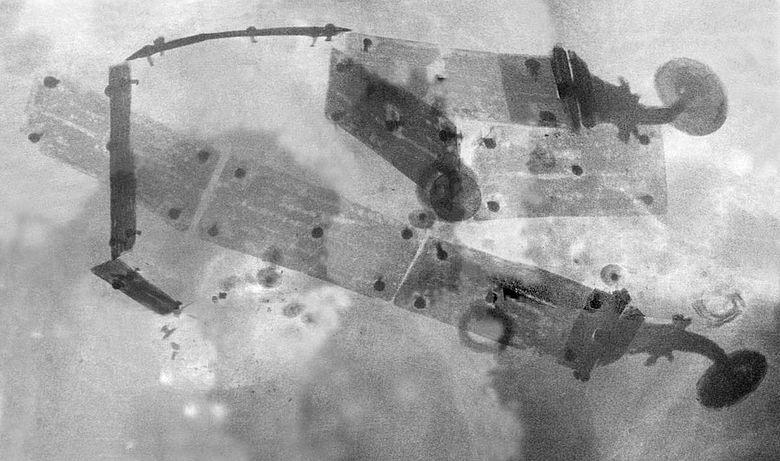 Röntgenbild des Gürtels in Blockbergung