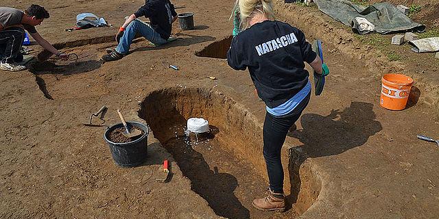 Ausgrabung LBK Gräberfeld Westfalen