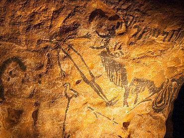 Steinzeitliche Bilderhöhlen