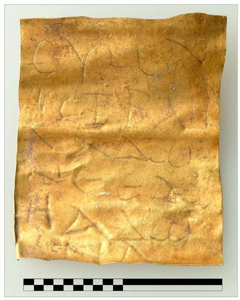 Das jüdische Amulett von Halbturn (Copyright: Universität Wien, Institut für Ur- und Frühgeschichte)