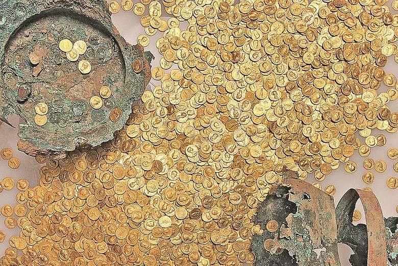 Der größte erhaltene römische Goldmünzenschatz der Welt