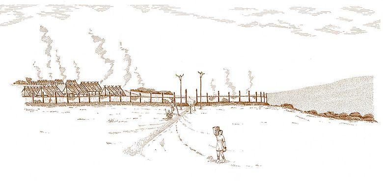 Rekonstruktion der Siedlung am Kapellenberg