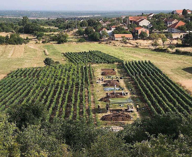 Ausgrabung in Pokrovnik, Kroatien