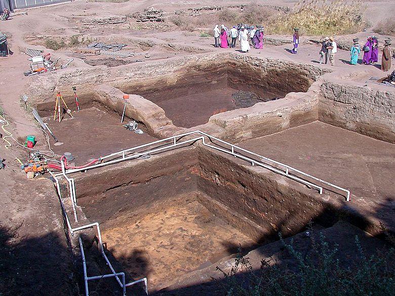 Ausgrabung in Buto, Ägypten