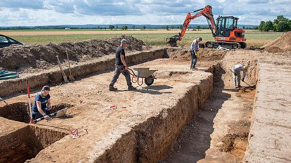 Ausgrabungsarbeiten
