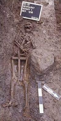 Abb. 10 Bestattung ohne Sarg. © Landesamt für Archäologie Sachsen