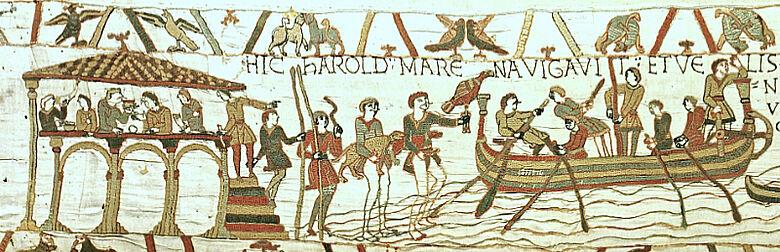 |3| Szene 4: Einschiffen von Harold mit seiner Mannschaft