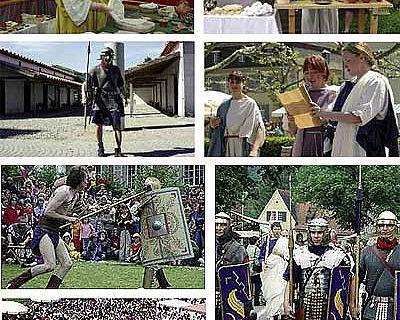 Impressionen vom Römertag in Brugg (CH) (Fotos: Vindonissa-Museum Brugg, CH)