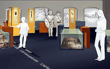 Nach dem Modell aus Schaumstoff und Pappe folgt ein 3-D Modell am Computer. Farbentwürfe und Raumaufteilung können so durchprobiert werden (Grafik: Mit freundlicher Genehmigung von Bertron.Schwarz.Frey Gruppe für Gestaltung)