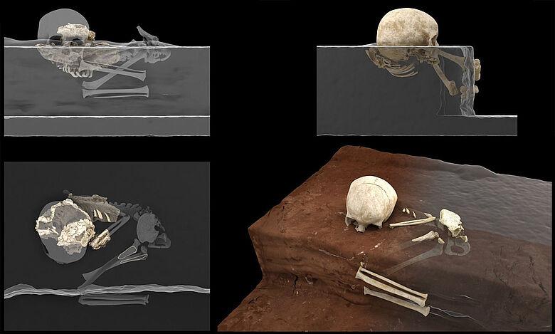 Rekonstruktion der ältesten Bestattung Afrikas