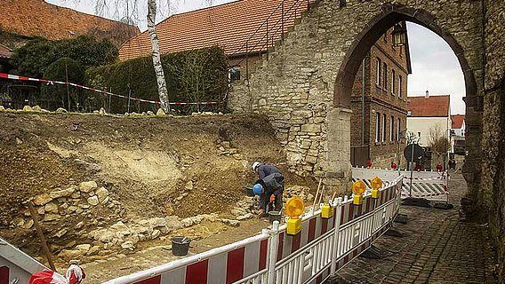 Abtragung Zwingermauer