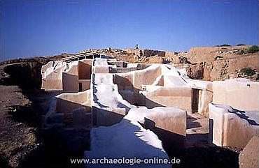 Ebla: Konservierte Mauern des sog. Palastes G