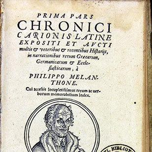 Titelblatt von: Philipp Melanchthon, Prima Pars Chronici Carionis [...] Wittenberg 1661 (Lippische Landesbibliothek)