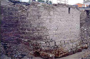 Abb. 4 Turmfundament der Stadtmauer des 15. Jhd. © Landesamt für Archäologie Sachsen